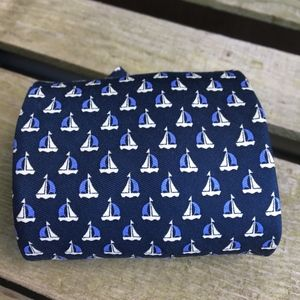 "BROOKS BROTHERS ""Basics"" Sailboat Tie in Navy NWT"